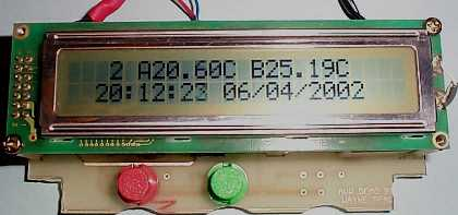 AVR 8 temperatures logger