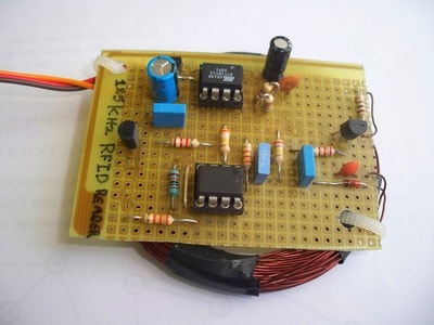 Attiny13 based RFID reader