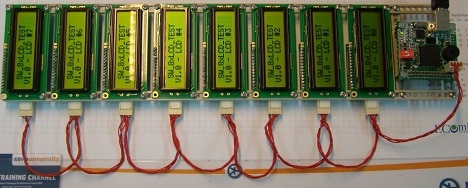 LCDs using two wire interface