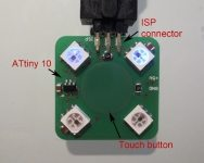 Attiny10 touch button