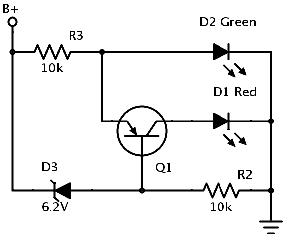 handy voltage transition indicator circuit  embedds