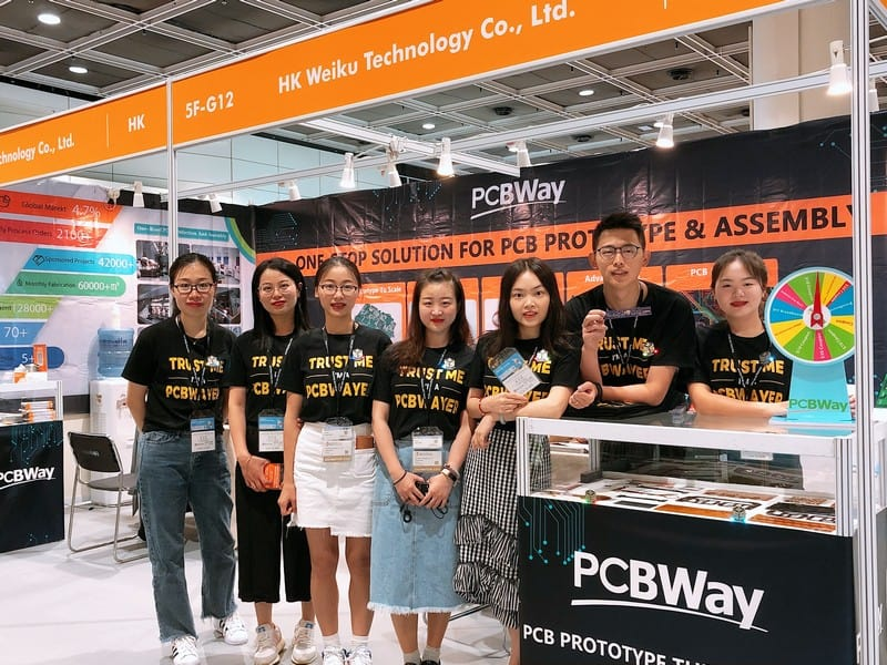 PCBWay at Hong Kong Electronics Fair 2019