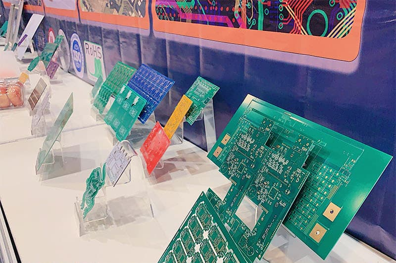 single and double-sided boards, multi-layer PCBs, HDI Rogers and High-Tg FR4 boards