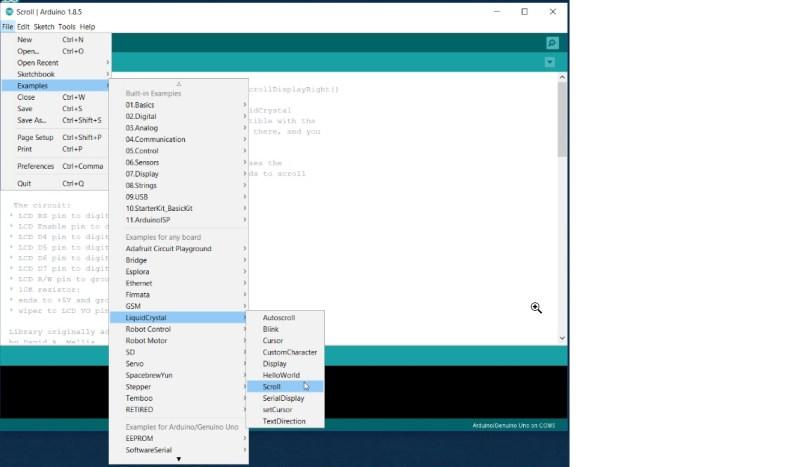 ARDUINO UNO - C++ Usecase -