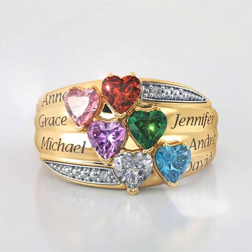 precious hearts personalized birthstone