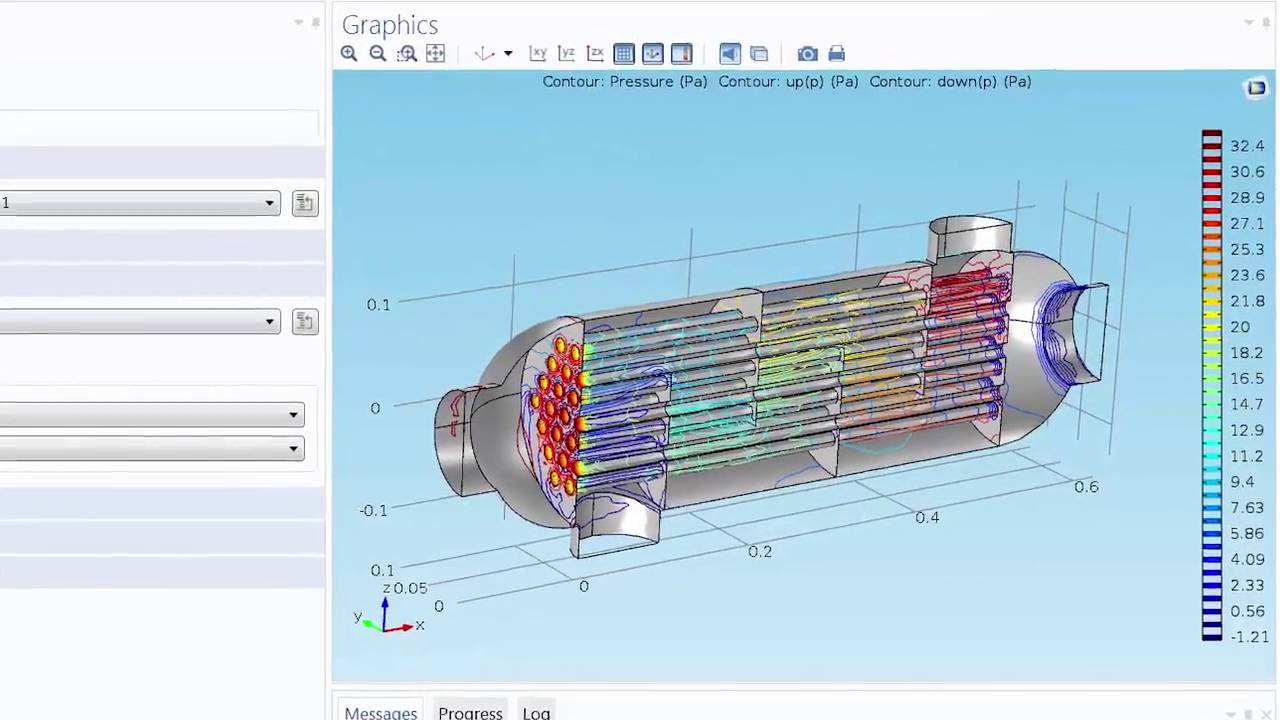 hight resolution of analyze thermal effects with the heat transfer module
