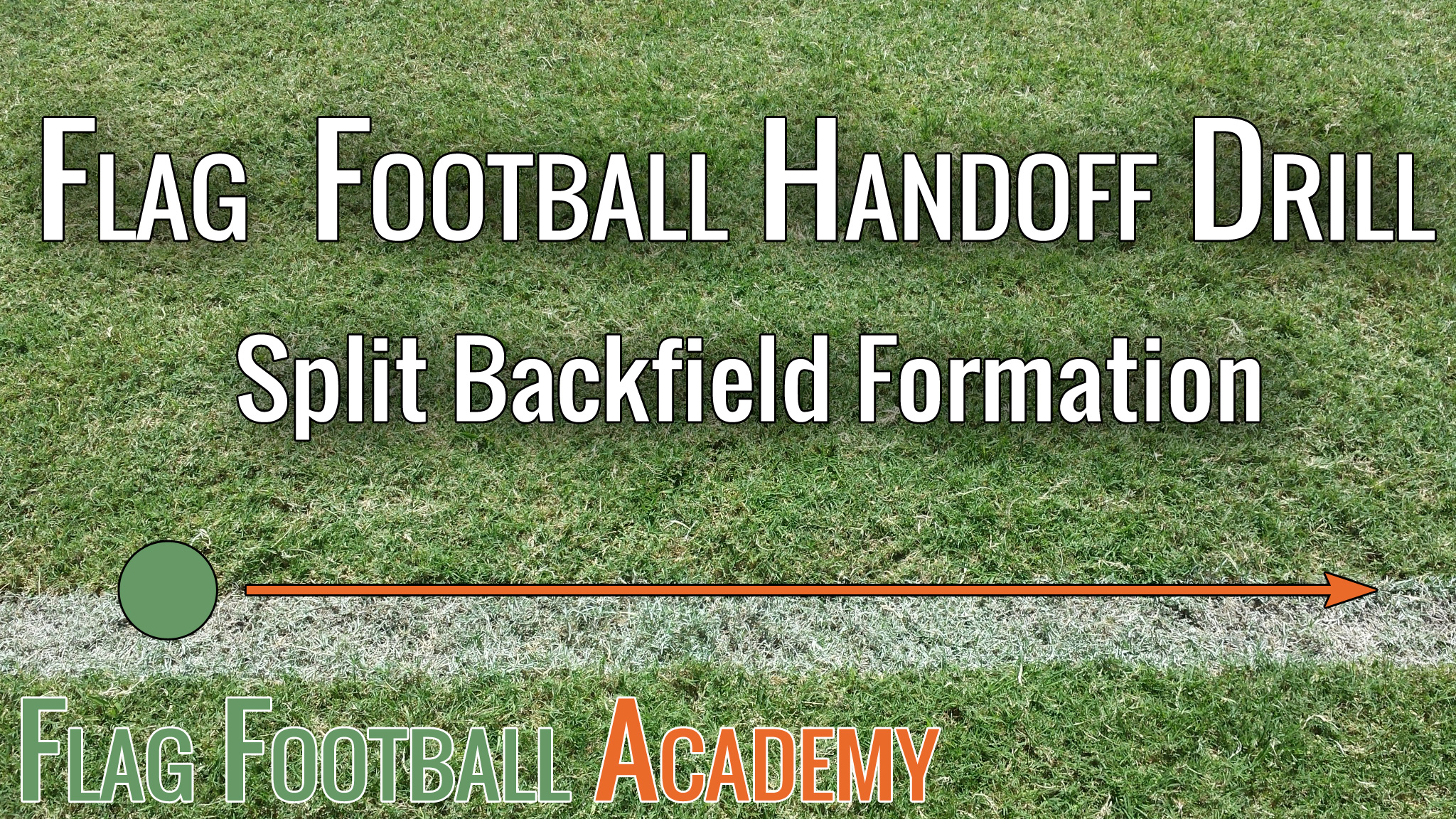 small resolution of this drill reinforces one of the plays i run with any team under 8 years old the split backfield drill has the quarterback fake it to the first running