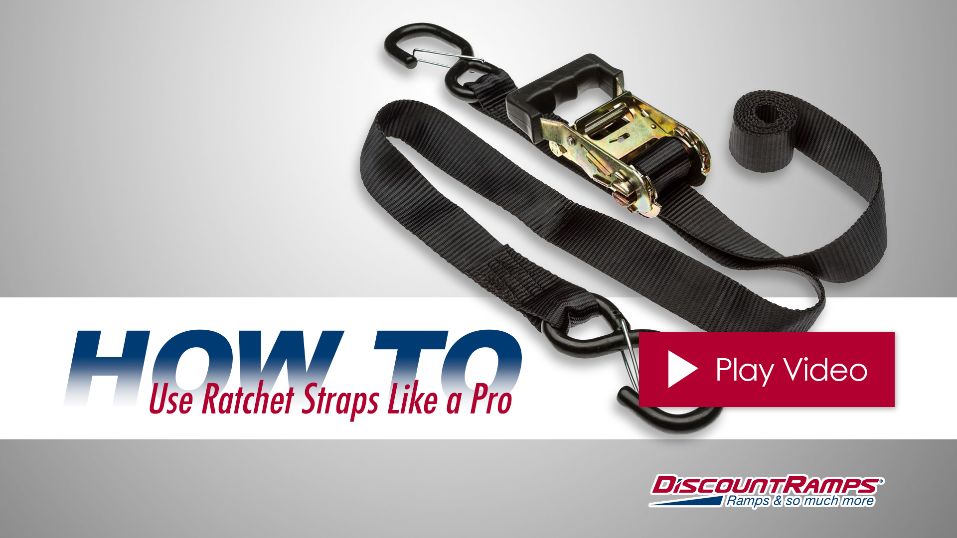 hight resolution of how to use rachet straps like a pro