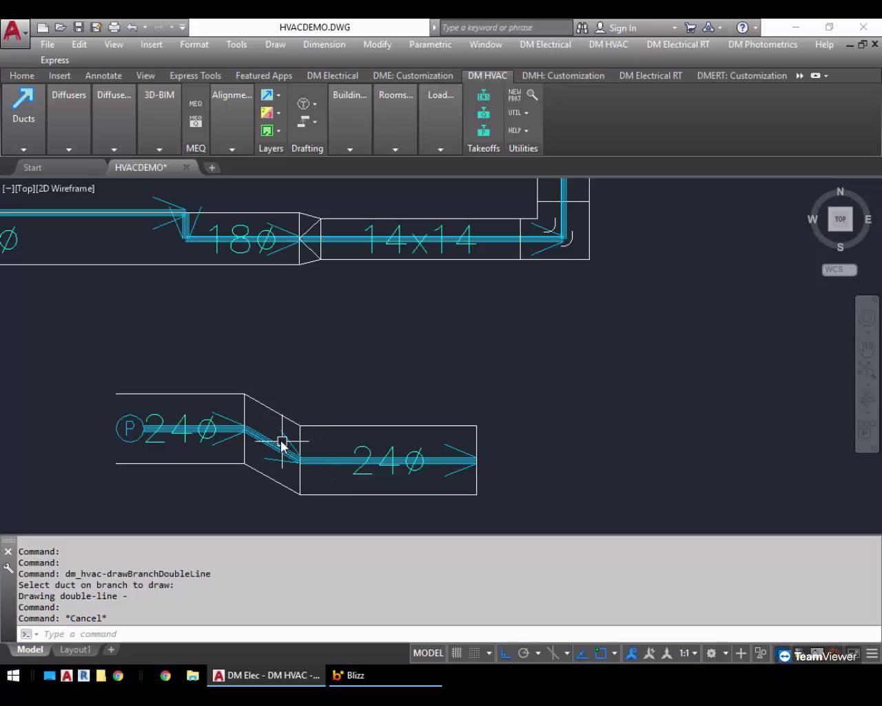 medium resolution of 2d ductwork drafting