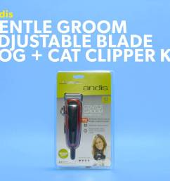 andis gentle groom adjustable blade dog cat clipper kit red black chewy com [ 1920 x 1080 Pixel ]