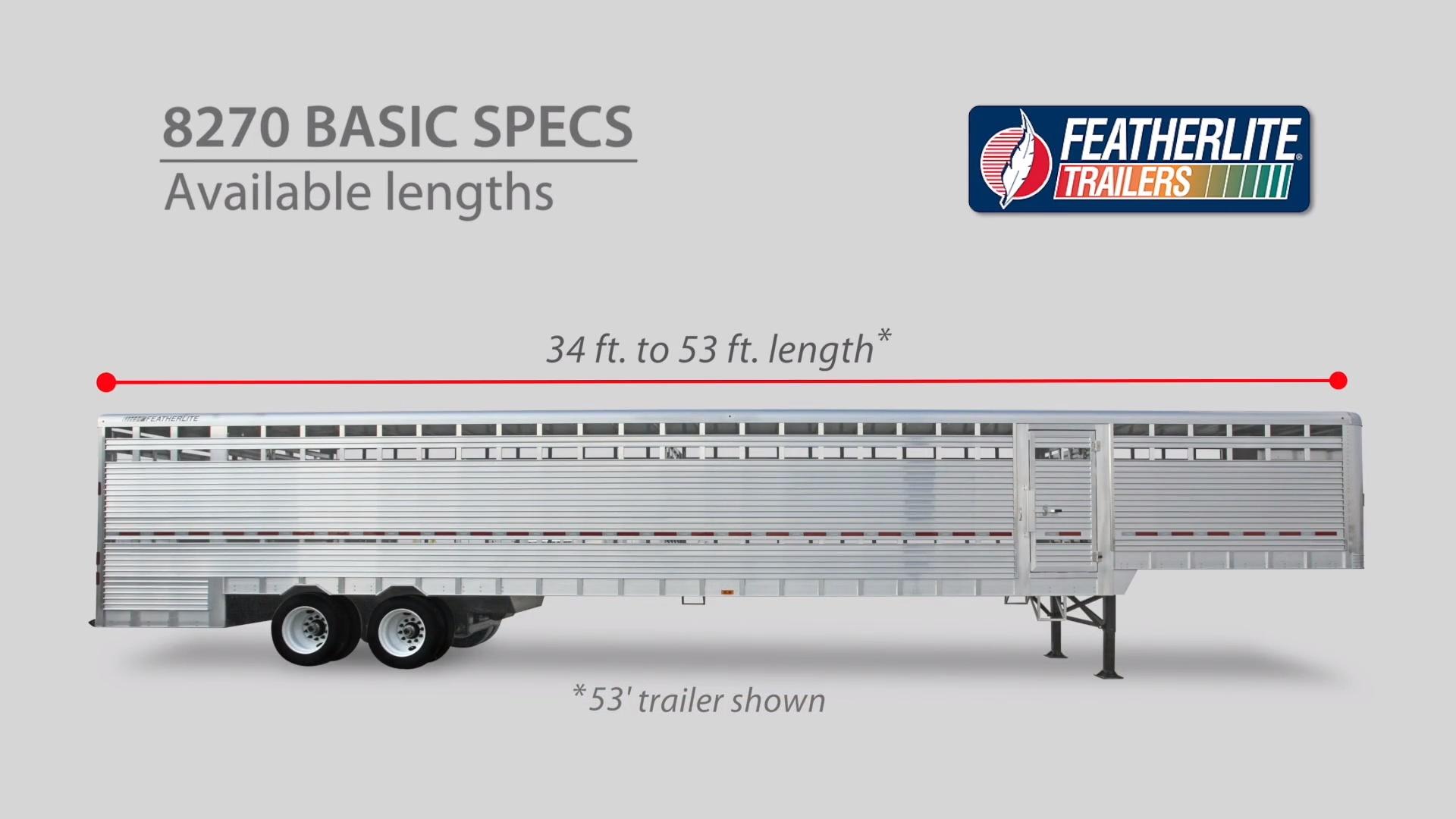 hight resolution of semi livestock trailers 8270 stock trailer featherlite8270 semi livestock trailer
