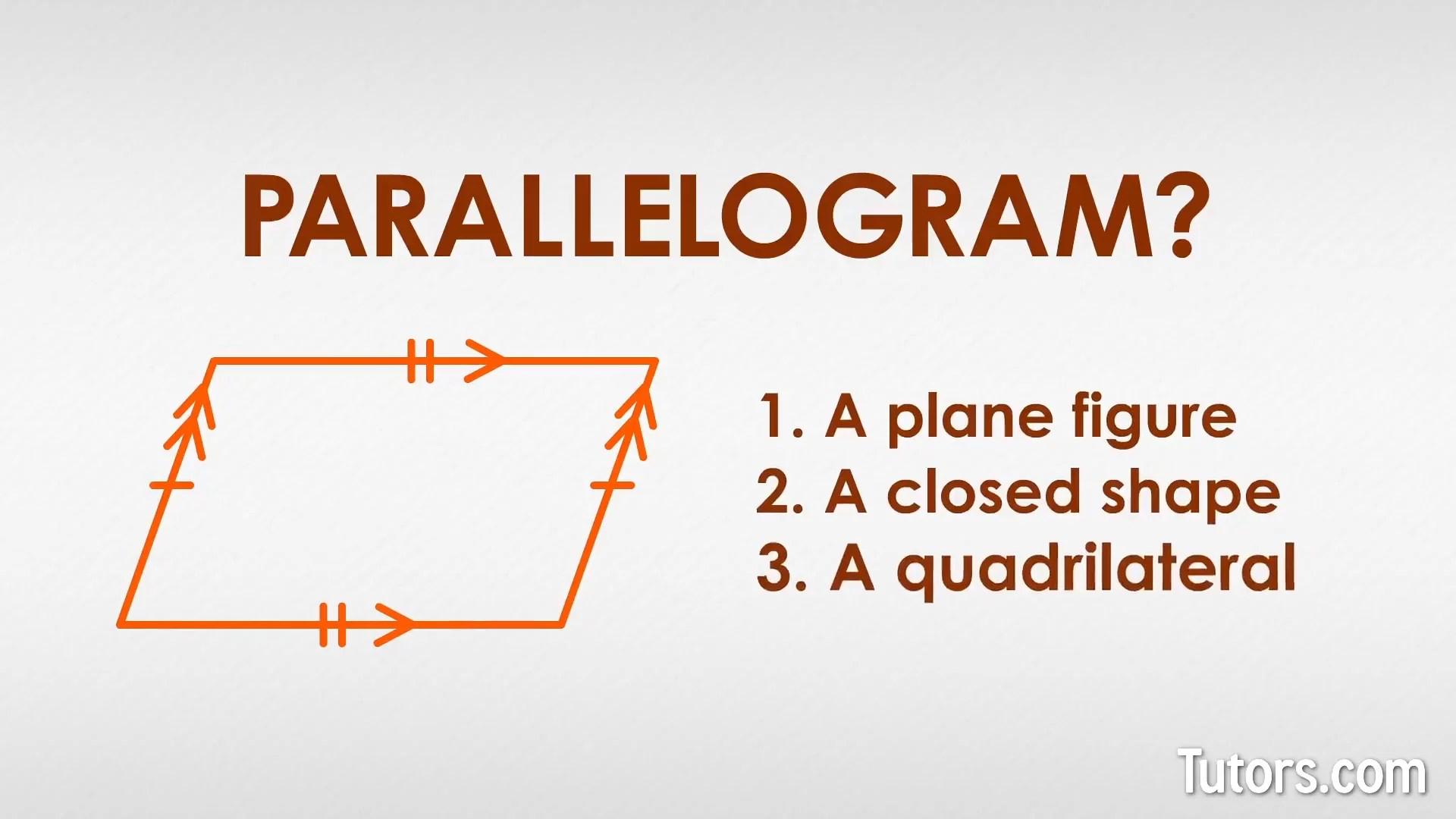 What is a Parallelogram? (Definition \u0026 Properties) // Tutors.com [ 720 x 1280 Pixel ]