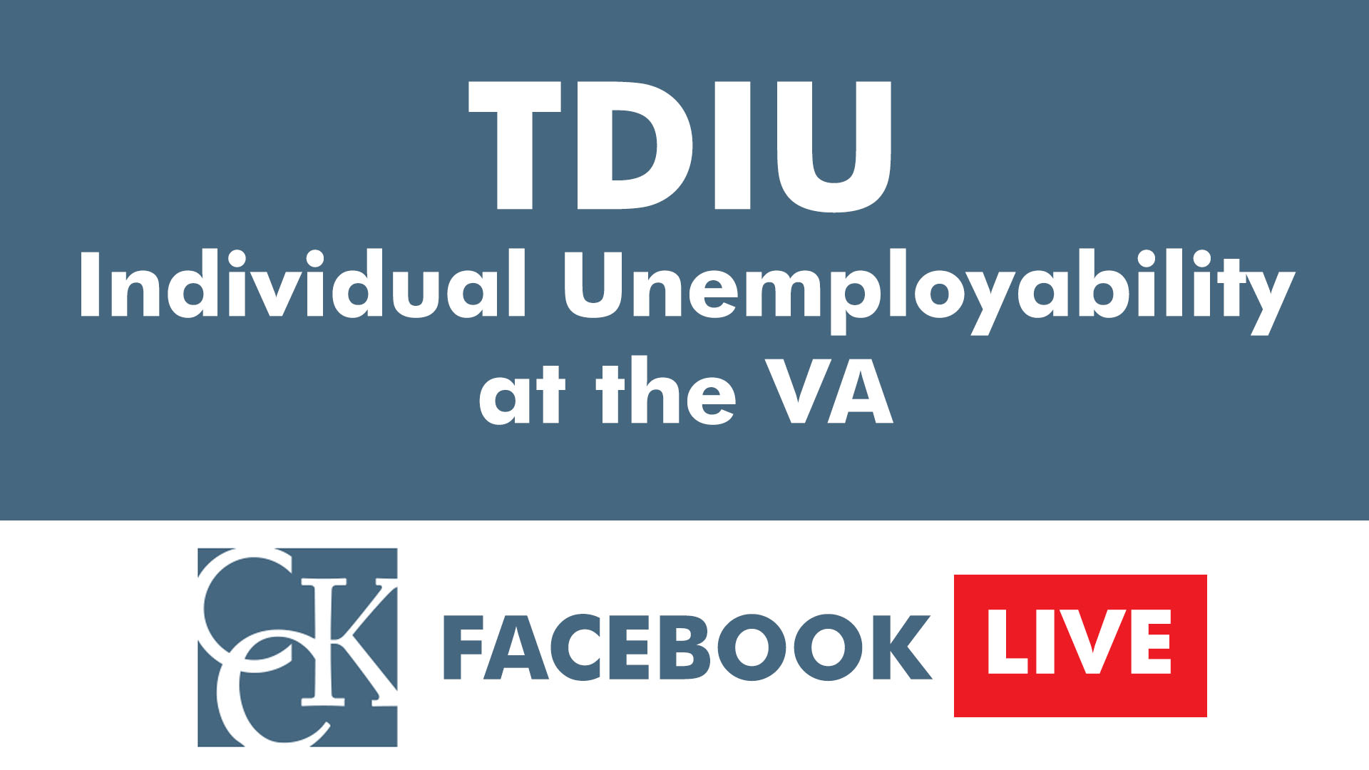 Video thumbnail also tdiu total disability inidual unemployability cck law rh