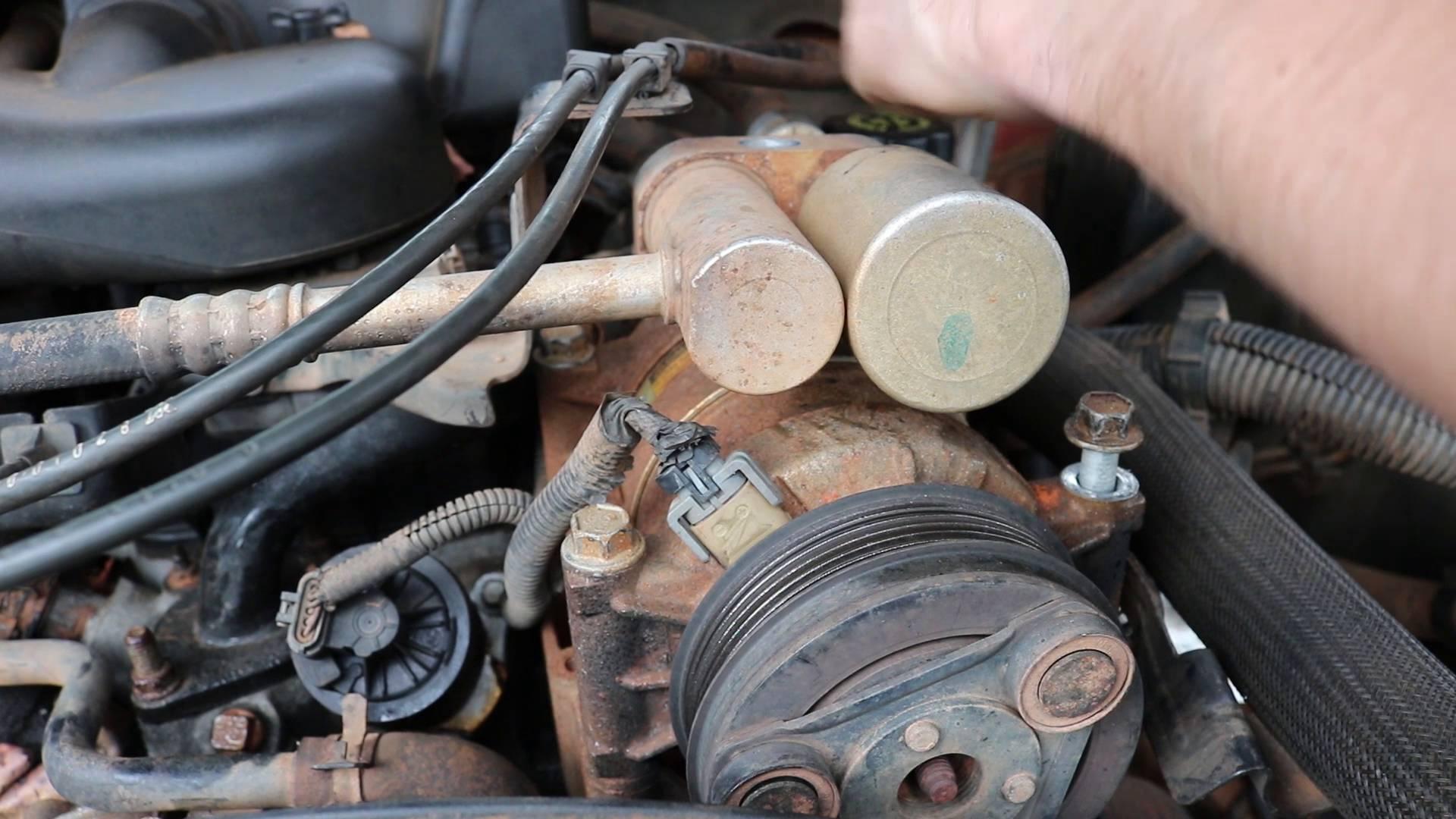 medium resolution of how to remove a chevy a c compressor chevrolet silverado 1997 2006 chevy a c compressor wiring