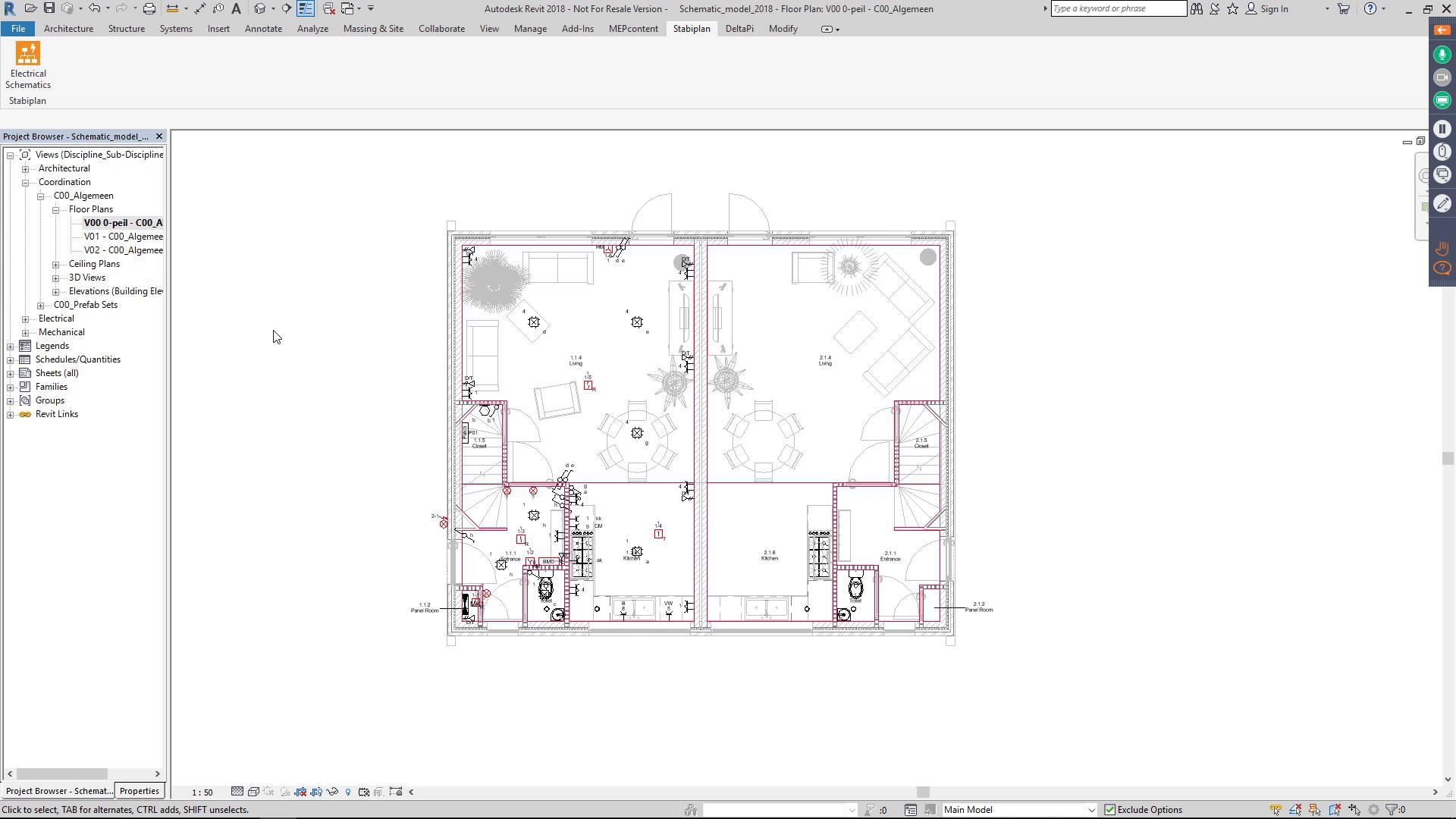 electrical plan revit [ 1280 x 720 Pixel ]