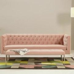 Pink Sofa Browse Uk Poundex Bobkona Julianne 3 Seater Blush Cotton Velvet Made Com Video Thumbnail