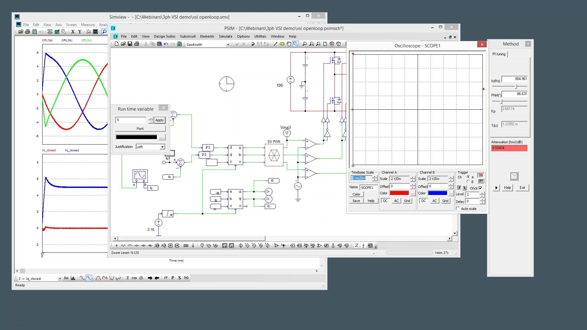 psim webinar 3 phase voltage source inverter design [ 1920 x 1080 Pixel ]