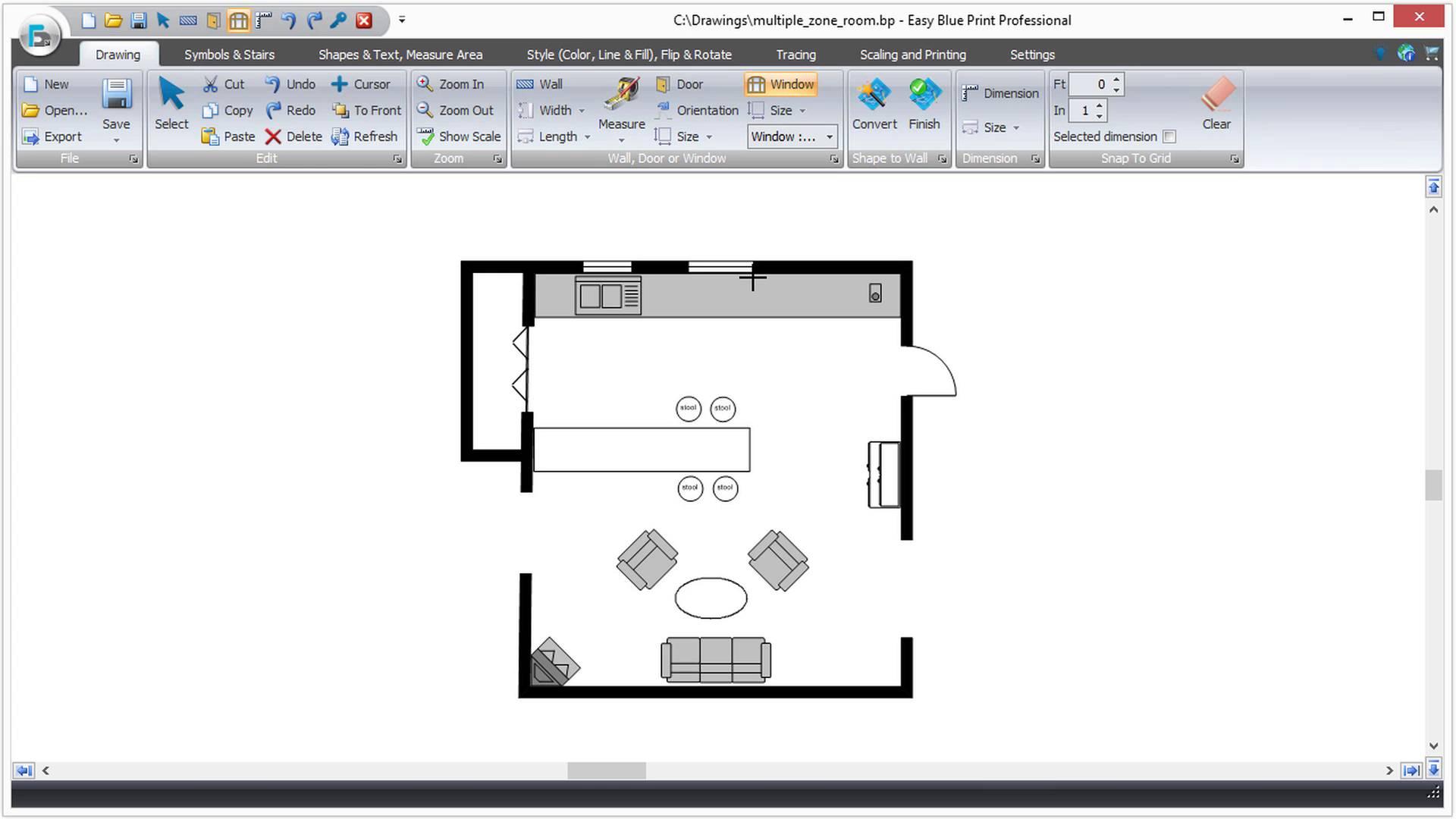 medium resolution of easy to use floor plan drawing software u2022 ezblueprint com room diagram programs