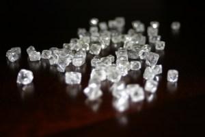 Rough diamonds from BHP's Ekati mine