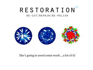 Diamond recut, repair & re-polish.