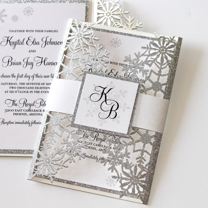 Krystal Winter Wedding Invitation
