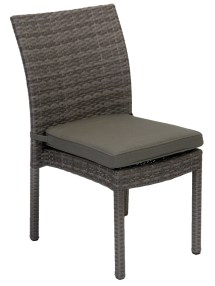 Villa Armless Wicker Outdoor Dining Chair - Embellish Imports