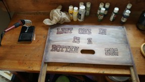 Custom Sign Burn on reclaimed wood - estimate $45.00