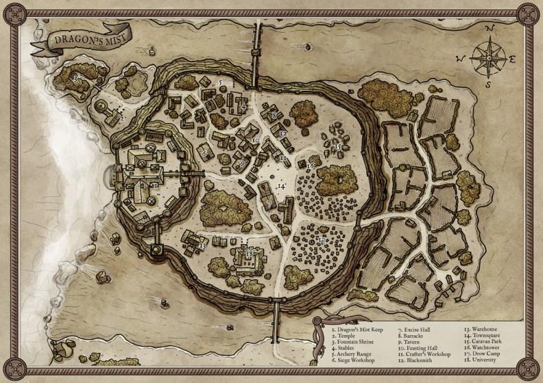 Dragon's Mist Island Map