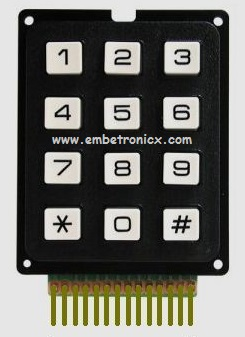 8051 Keypad Interfacing