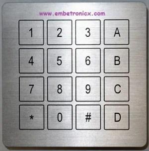 Keypad interfacing with LPC2148
