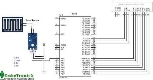 Rain Sensor Interfacing with 8051