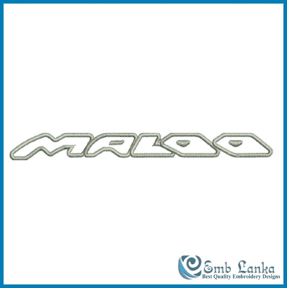 holden gts hsv maloo logo embroidery design