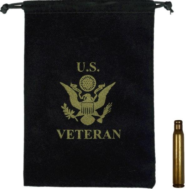 Shell Casing Presentation Bag - American Legion Flag & Emblem