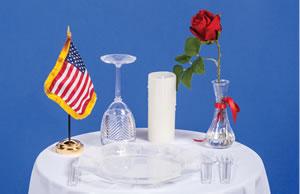 POWMIA Ceremony Table Kit  American Legion Flag  Emblem