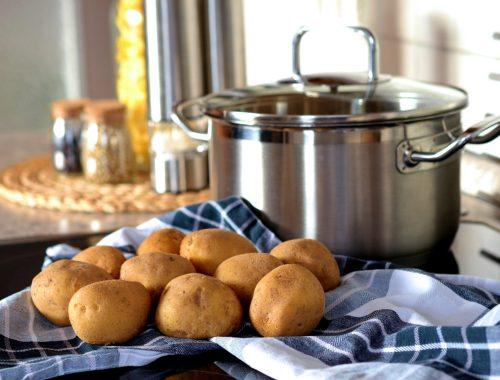 pot and potatoes
