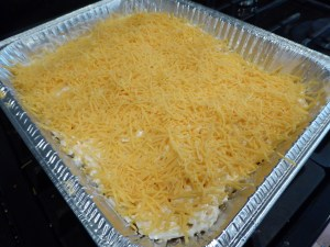 cheesy potato casserole pre baking