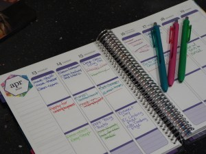 weekly layout of LifePlanner