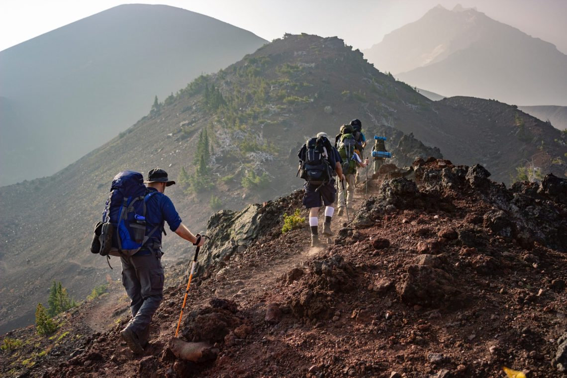 walking up a moountain - faith is a journey