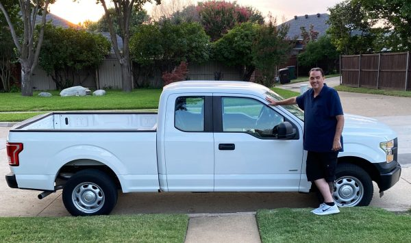 Boyce With His New Truck