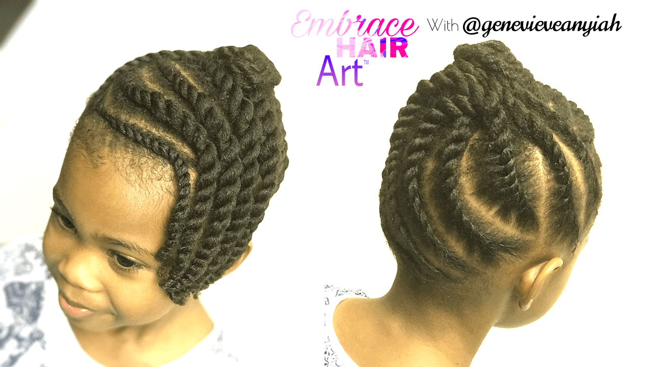 Natural Hair Kids Easy Two Strand Twist Updo Embrace Your Tresses