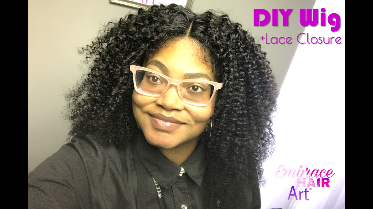 Diy Natural Kinky Hair Lace Closure Wig Featuring Embrace Bohemian