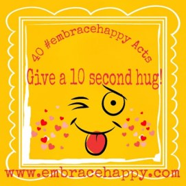 10 second hugs! They are awesome! Grab onto a loved one (best of all, your child) and give them a proper 10 second hug. Hold on, close your eyes and breathe them in.