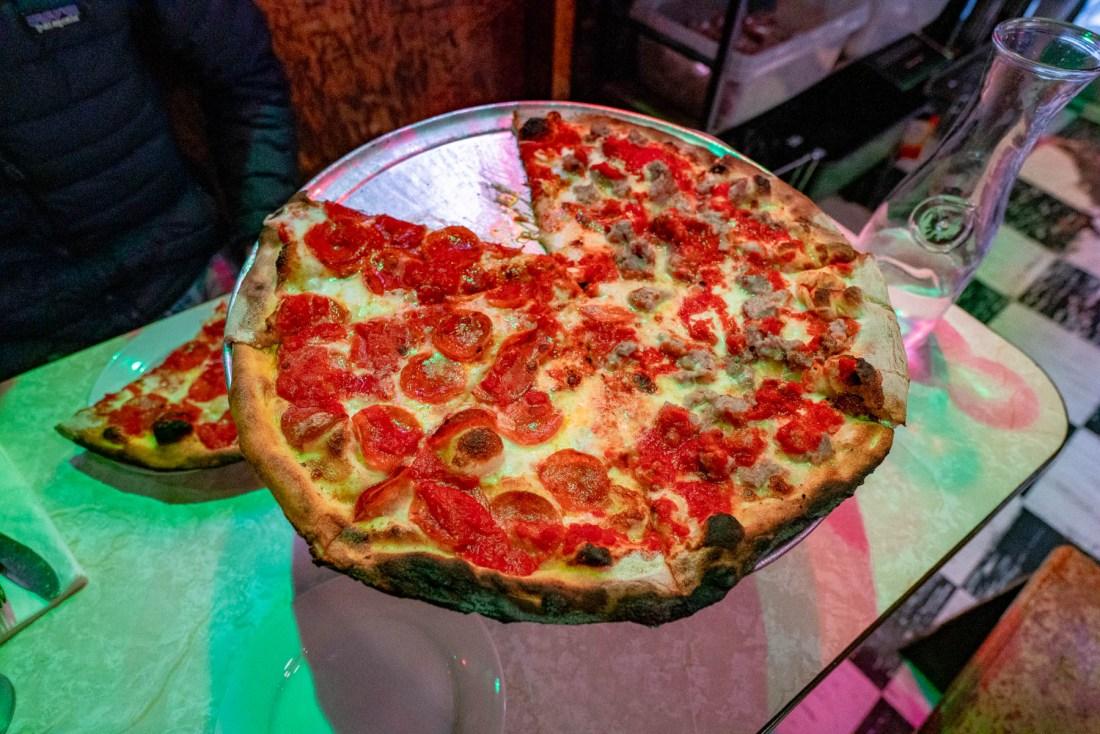 Best Pizza NYC John's of Bleeker Street pepperoni
