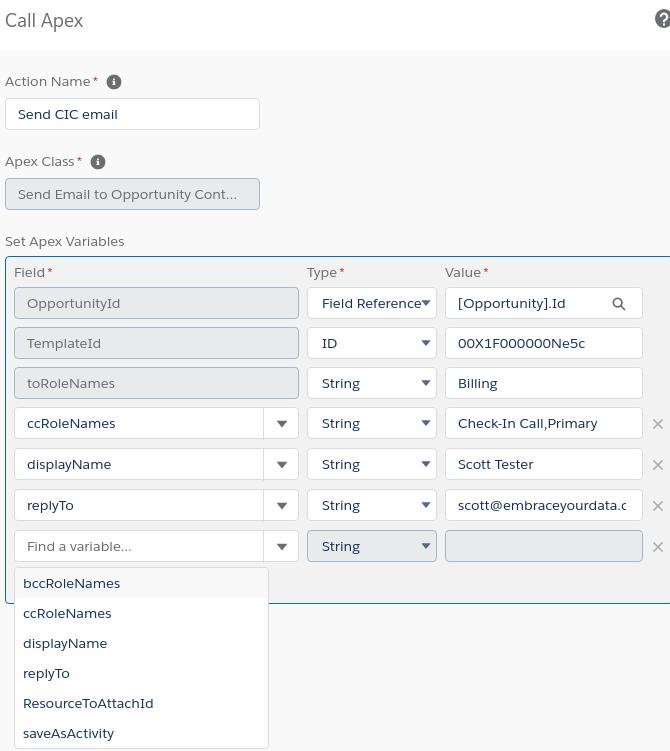 Process Builder screenshot to show configuration