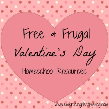 free & frugal Valentine #Homeschool Resources Lesson Plans Lapbooks Unit Studies