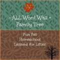 fall word wall #homeschool