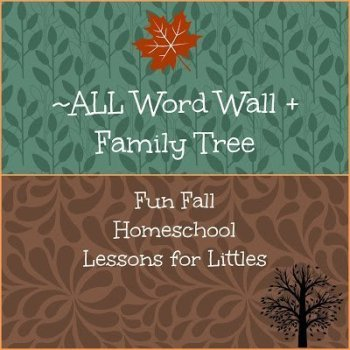 Fall Word Wall and Family Tree