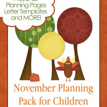 November Planning Pack for Kids