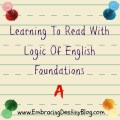 Logic of English Foundations A #hsreview