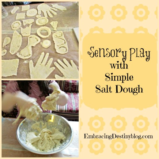 Sensory Play with Simple Salt Dough Recipe and Activities